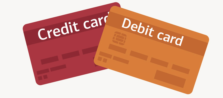 credit card and debit card